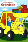 Tractor Driver - Grandson Birthday Card